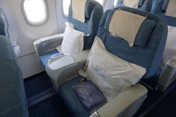 セントレア/セブ直行便レポート ビジネスクラス シート