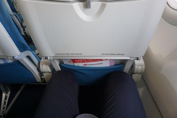 セントレア/セブ直行便レポート エコノミークラス シート