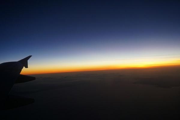 セントレア/セブ直行便レポート 窓からの夕景