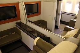ガルーダ航空 ファーストクラス