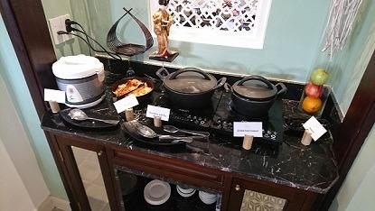 朝食 アレグロホイアン お米コーナー