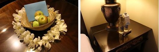 アヤナ・リゾート&スパ・バリ ウェルカムフルーツとお水