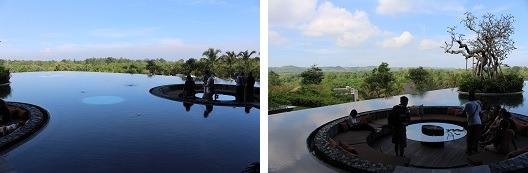 リンバ・ジンバラン・バリ・バイ・アヤナ 水の中のソファー