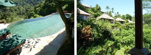 ロイヤルピタマハ デラックスプールヴィラ プライベートプールと眺望