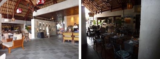 アラヤリゾートウブド ロビーとレストラン