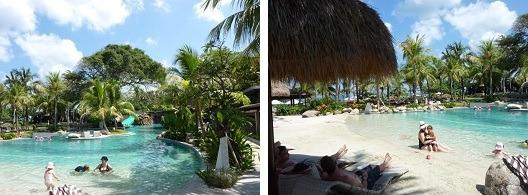バリマンディラビーチリゾートスパ 砂浜のプール
