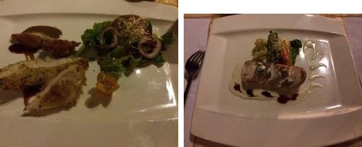 クプクプバロンヴィラス&ツリースパ ラ・ヴューレストランでの夕食-1