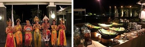 レゴンダンスの踊り子          インドネシアンブッフェ