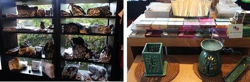 バンヤンツリーコレクションのポーチやカバン、アロマセットなども販売しています