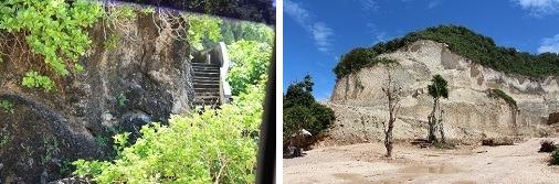 バギー+階段を下りプライベートビーチへ。