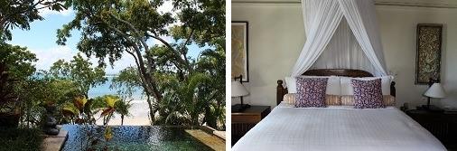 プランジプールと海           ベッドルーム