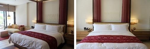 ベッドとリビングスペース        ベッド