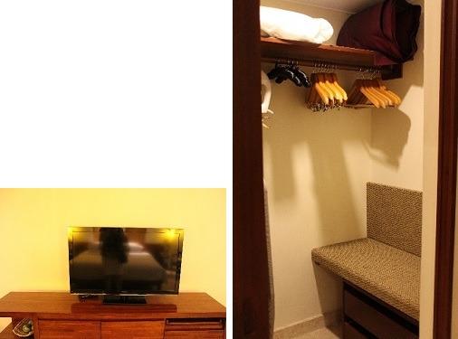 パナソニックTV            セーフティボックス・懐中電灯なども詰まったウォークインクローゼット