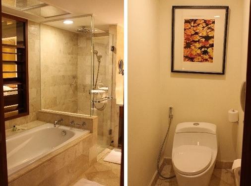 水圧良好のバスルーム