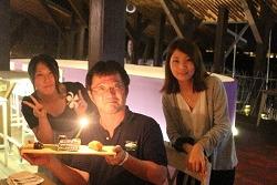 サプライズの誕生日ケーキも用意していただきました