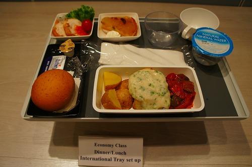 シンガポール航空 エコノミークラス のメニュー