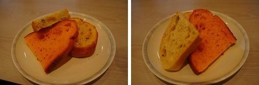 焼きたての特製パンも運ばれてきました!