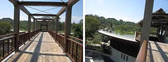 フォーシーズン リゾート バリ アット サヤン ロビーに続く橋