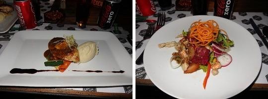 カムエラ・ヴィラズ&スイーツ・サヌールのCaramel Restaurant コース料理