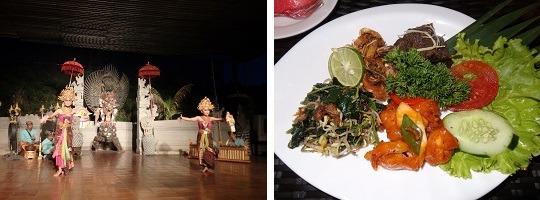 クマンギダンス              インドネシア料理の夕食