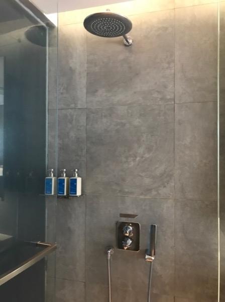 こちらのお部屋はシャワーのみでバスタブはありません。