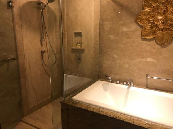 シャワーとバスタブが別なのは便利ですね。