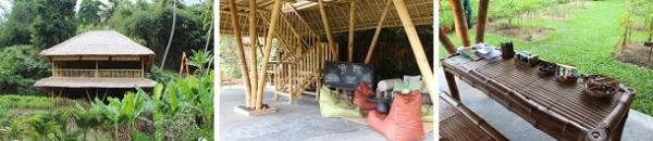 かなり立派なキッズクラブ外観  テーブルやイス・階段などはほぼ竹でできていて、尖った部分がなく安全です