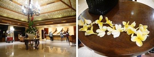 アヤナ リゾート&スパ バリ フロントとフランジパニのレイ