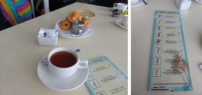 コーヒーもしくは紅茶とペストリーのサービス