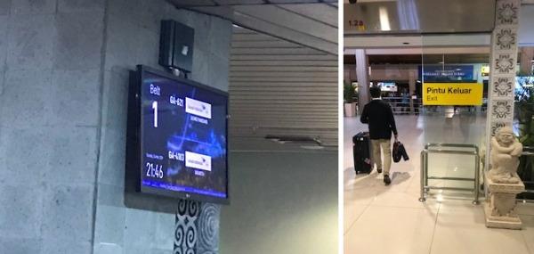 デンパサール空港到着 空港出口へ