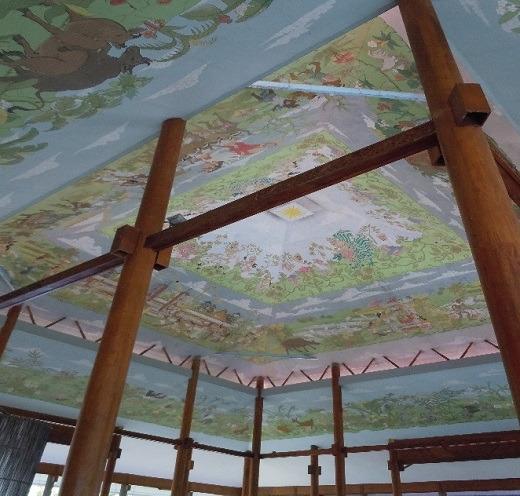 メリア バリ 印象的なロビー天井