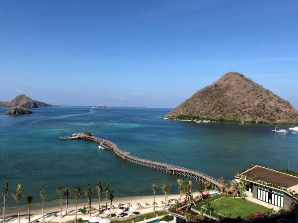 アヤナコモド ホテルからの眺望