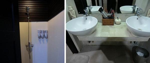 パラダイスラウンジ シャワールームと洗面台