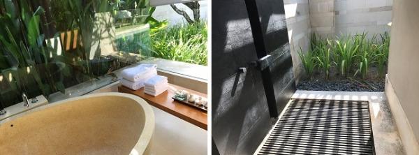 シングルパビリオン バスルームと屋外のシャワールーム