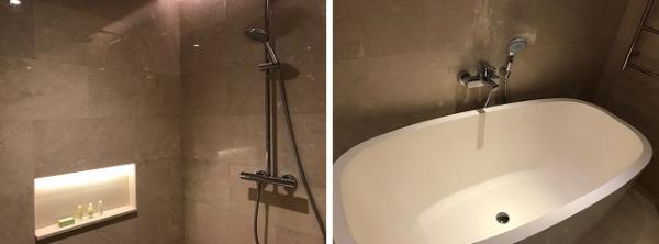 パドマリゾート レギャン デラックスシャレー バスルーム