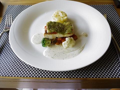 ヴィラ アイル バリ 洋食のコースランチ