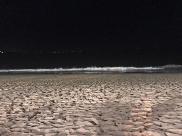 BLUE MARLIN ビーチ沿いの砂浜