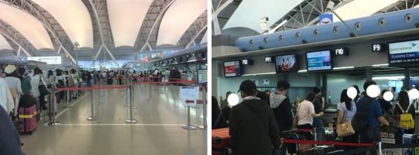 関西空港 ガルーダインドネシア航空チェックインカウンター