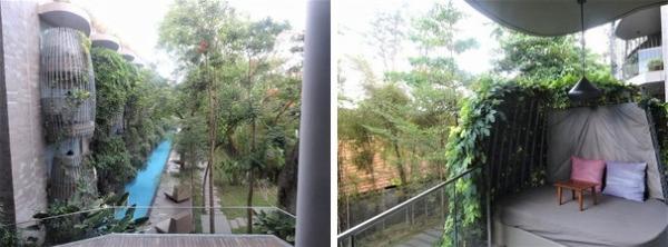 マヤサヌール デラックスラグーンビュー 部屋からの眺望とバルコニー