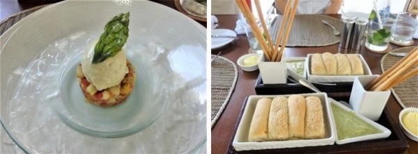 ザ・バレ ランチ ウェルカムドリンクとパン