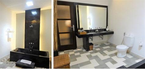 プライベートプール付き1ベッドルームヴィラ バスルーム