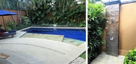 クンジャ 1ベッドルームプールヴィラ プライベートプールと屋外シャワー