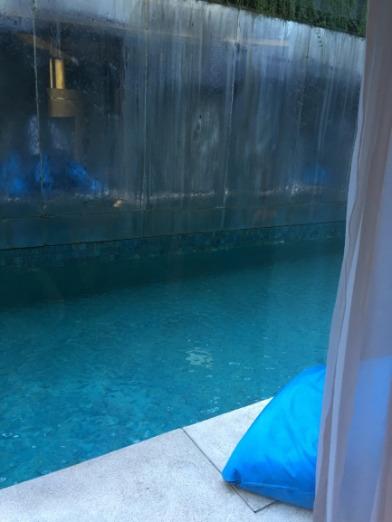 デラックスプールアクセス脇のプール