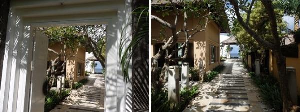※新郎・新婦入口〜お支度ヴィラまでのアプローチも写真スポットになります。