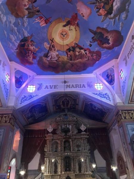 ボホール島 バクラヨン教会 天井