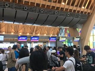 フィリピン航空 Bカウンターよりチェックインの手続き