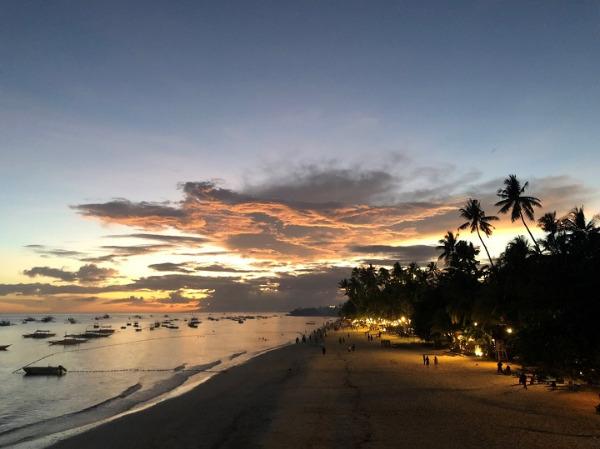 パングラオ島 アロナビーチのサンセット