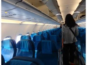 フィリピン航空 PR409便 エコノミークラスの座席の様子