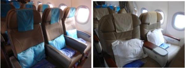 フィリピン航空 PR409便 プレミアムエコノミー   ビジネスクラス