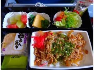 フィリピン航空 PR409便 機内食 和食